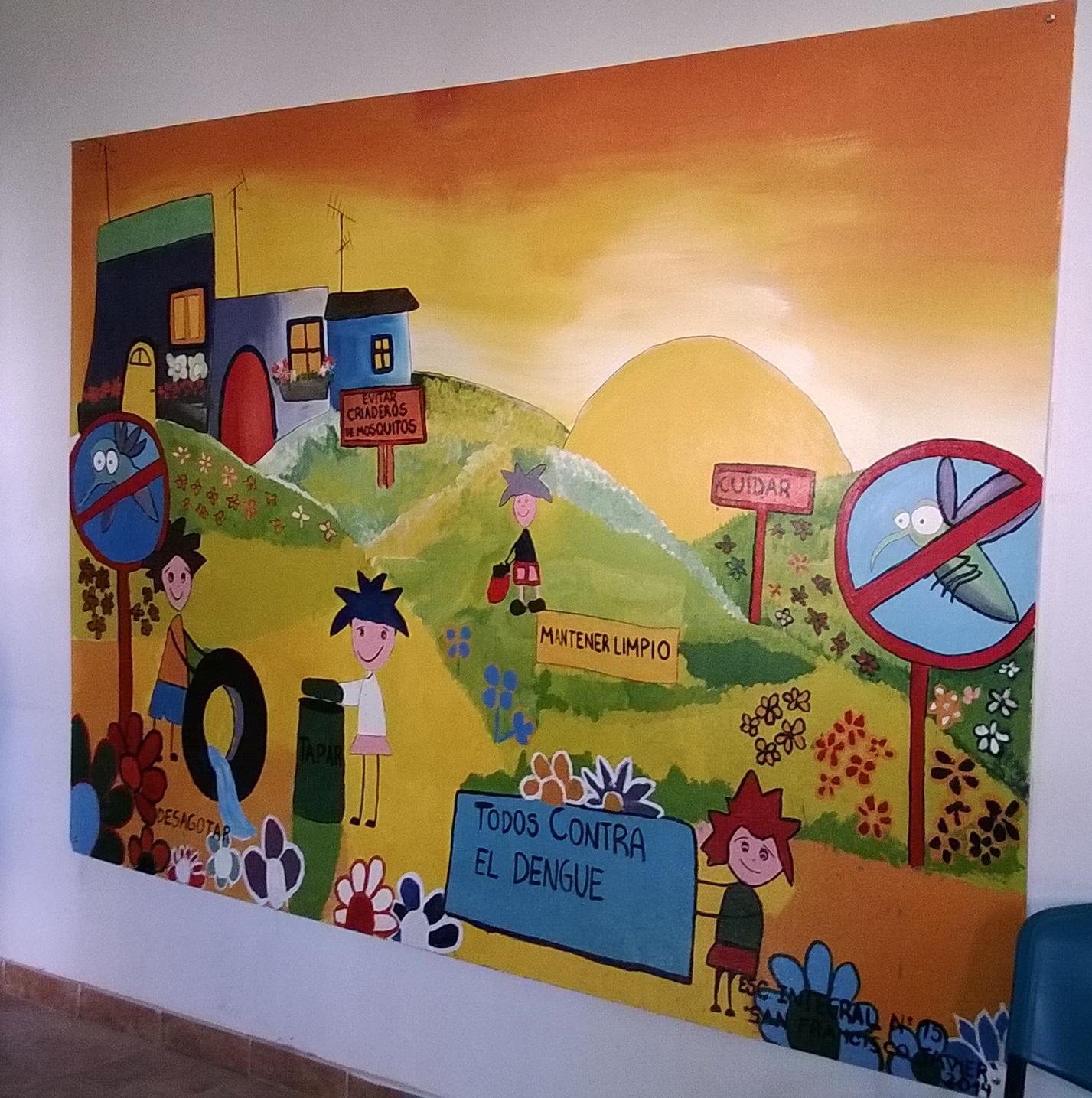 Mural: Todos contra el Dengue