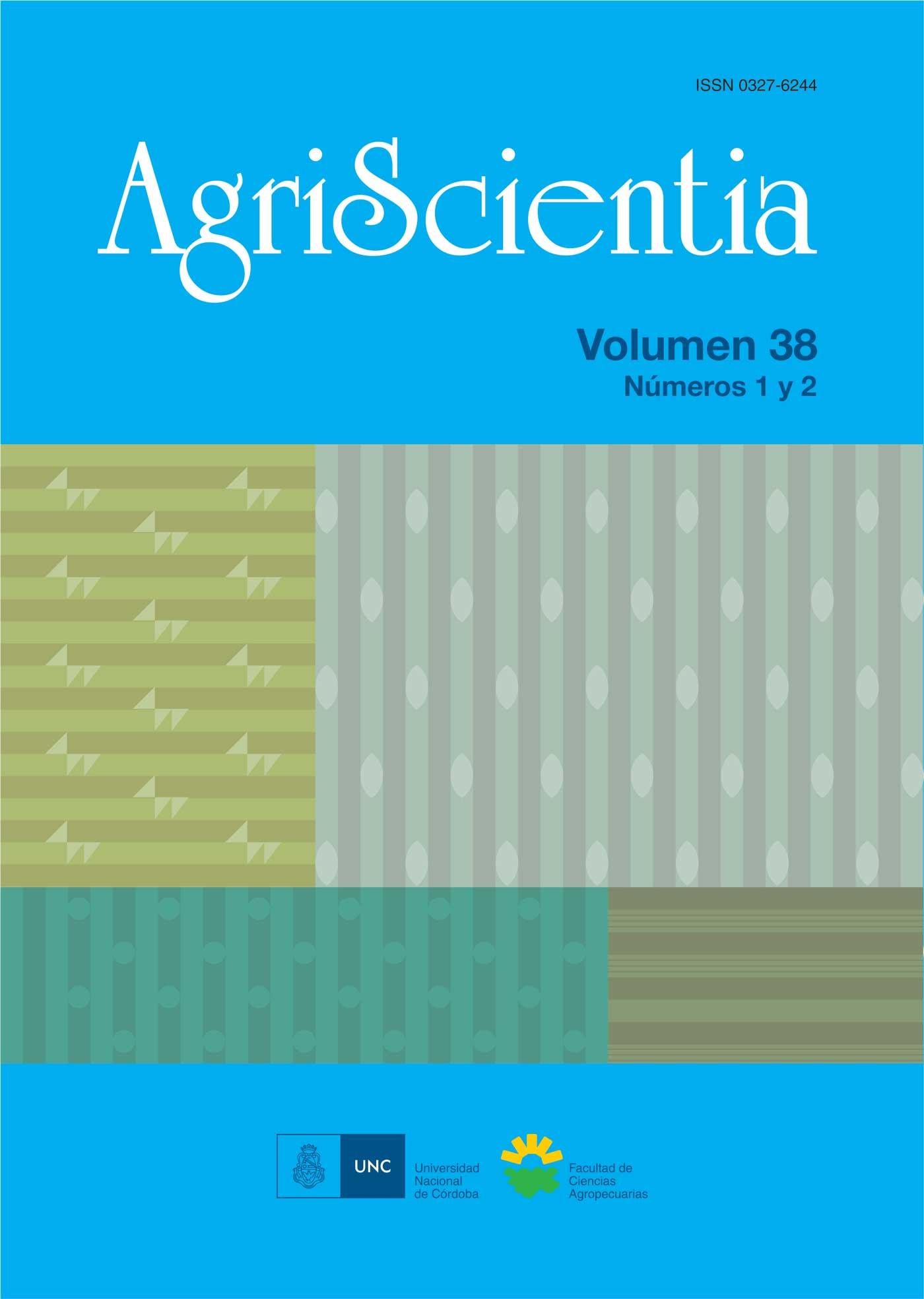 Tapa revista AgriScientia Vol. 38 Números 1 y 2
