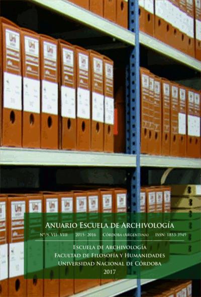 Ver Núm. 7-8 (2016): Anuario Escuela de Archivología