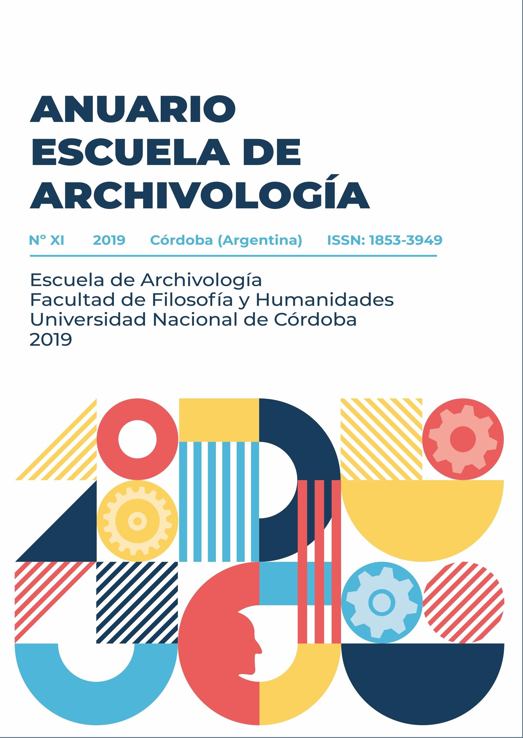 Ver Núm. 11 (2019): Anuario Escuela de Archivología