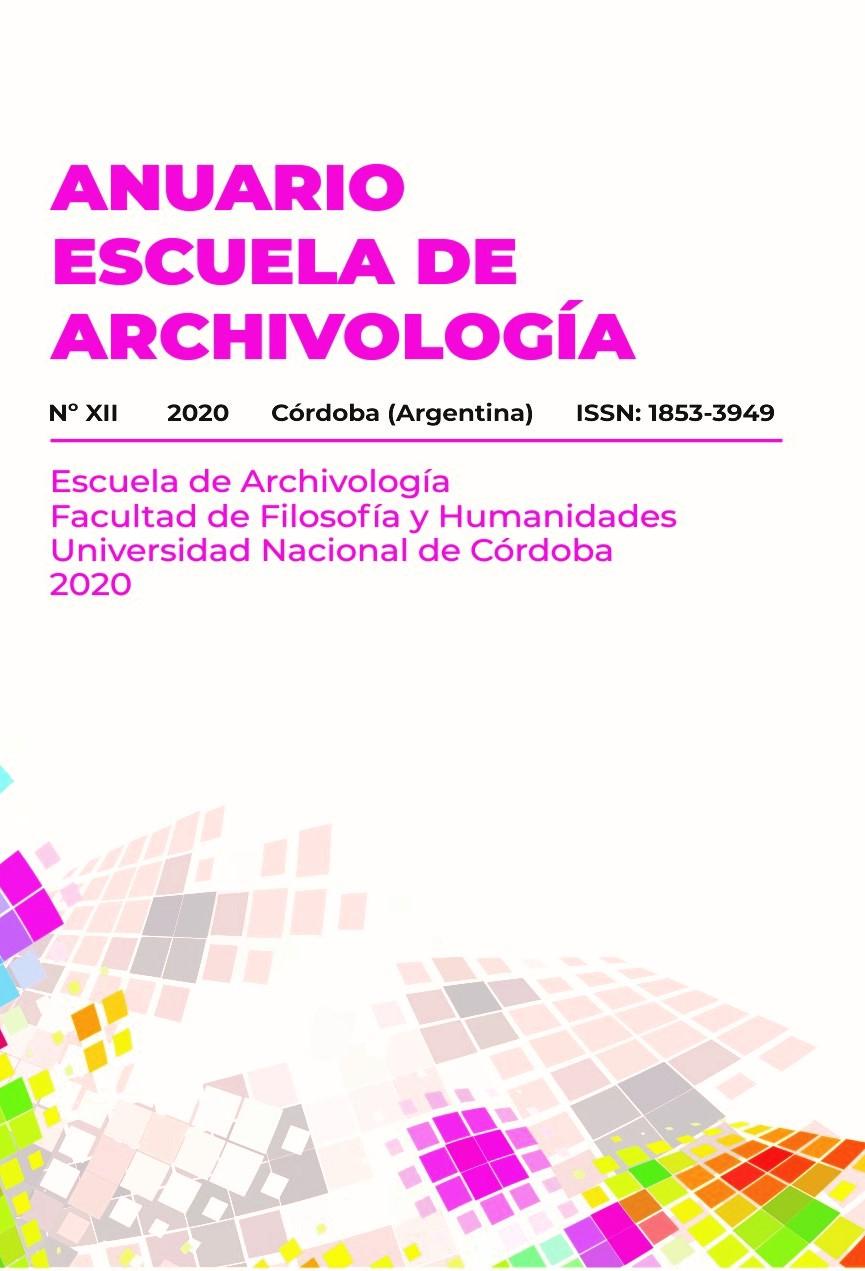 Ver Núm. 12 (2020): Anuario Escuela de Archivología