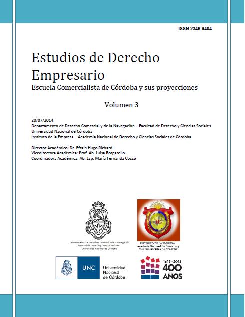 Ver Vol. 3 (2014): Estudios de Derecho Empresario