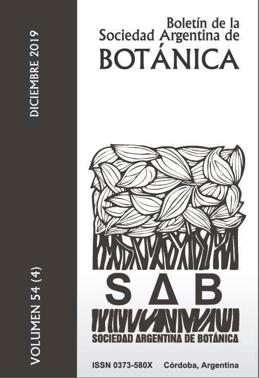 Boletín Soc. Argent. Bot. 54(4)2019