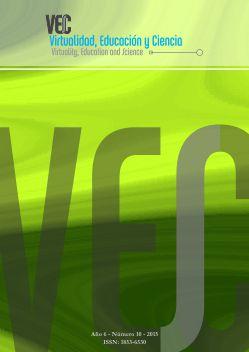 Tapa del número 10, se ve un fondo verde con el nombre de la revista Virtualidad, Educación y Ciencia