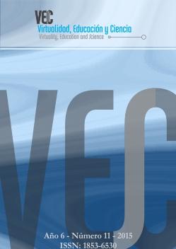 Tapa del número 11, se ve un fondo azul con el nombre de la revista Virtualidad, Educación y Ciencia