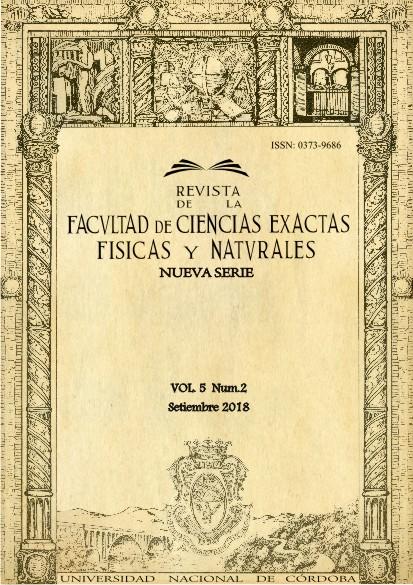 Revista de la Facultad de Ciencias Exactas, Físicas y Naturales - Vol. 5 Num. 2