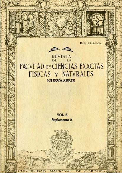 Revista de la Facultad de Ciencias Exactas, Físicas y Naturales - Vol. 5 - Suplemento 2