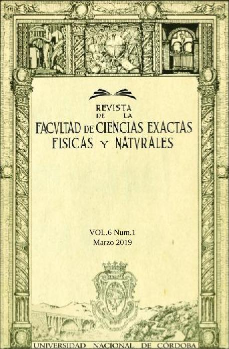 Revista de la Facultad de Ciencias Exactas, Físicas y Naturales - Vol.6 Num.1 - Marzo 2019