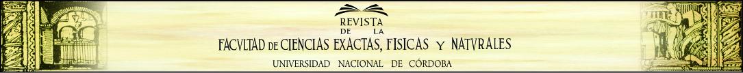 Logo Revista de la Facultad de Ciencias Exactas, Físicas y Naturales - Universidad Nacional de Córdoba