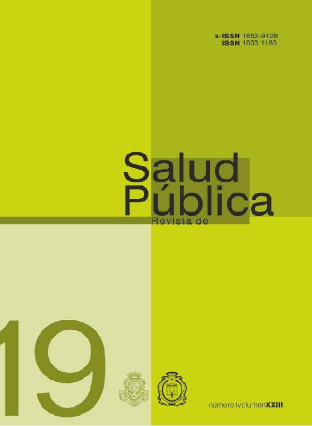 Ver Vol. 23 Núm. 1 (2019): Revista de Salud Pública