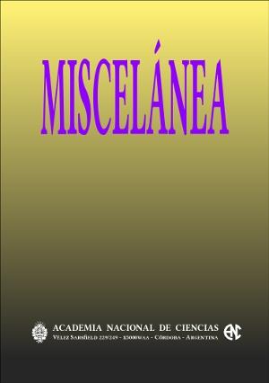 Portada de presentación de la publicación Miscelánea