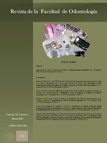 Revista Facultad Odontología-UNC vol 30 num 1- año 2020
