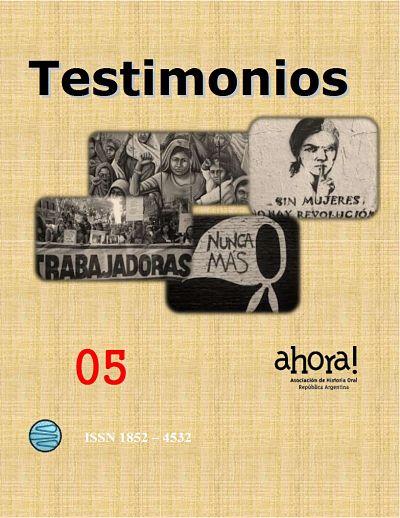 Ver Núm. 5 (2016): TESTIMONIOS N° 5
