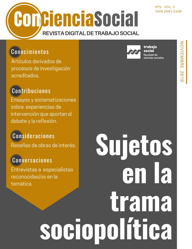 Ver Vol. 3 Núm. 5 (2019): Sujetos en la trama sociopolítica