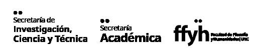 logos de Secretaría de Investigación, Ciencia y Técnica, Secretaría Académica y Facultad de Filosofía y Humanidades