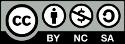 logo de licencia Creatve commons, atribución, no comercial, compartir igual 4.0 internacional
